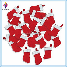 Wholesale Hanging Mini Felt Christmas Stockings for Crafts & Decorations