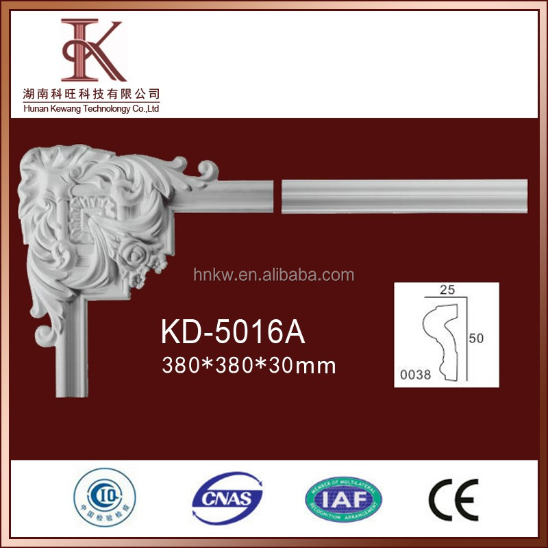 KA-5016A Inside Corner Moulding For Decorating House Pu Plain Design