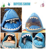 2 Size shark shape plush Pet Products Warm Soft Dog House