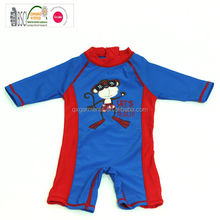 New Fashionn Baby Boy One Piece Swimsuit surfing shirt with zipper centre back ,boy's swimsuit