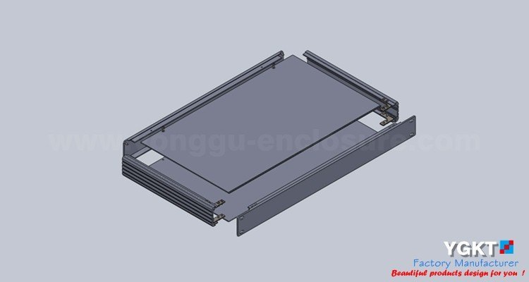 YGH-001--1u 482*44.5*200 mm (w*h*d) Extruded Aluminum Project Box with covers Aluminmum Enclosure Ham Radio