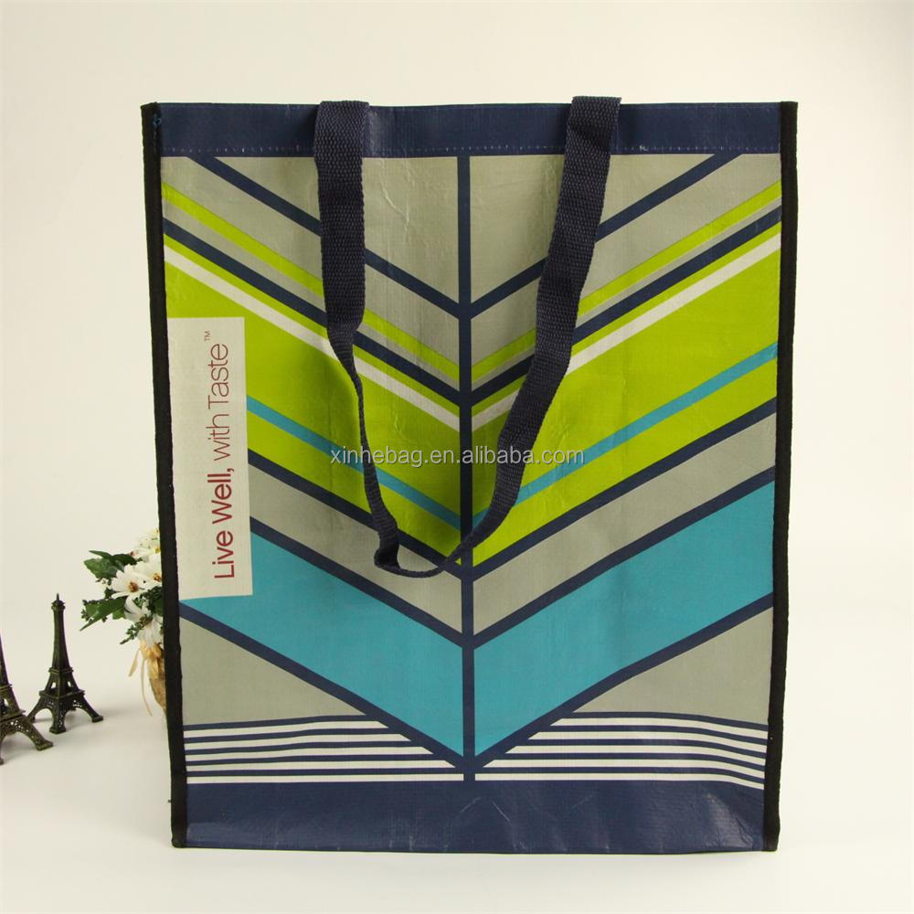 Fancy promotional glossy laminated gift pp woven shopping bag