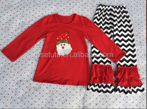 boutique outfits children girls christmas clothing sets baby child winter clothes