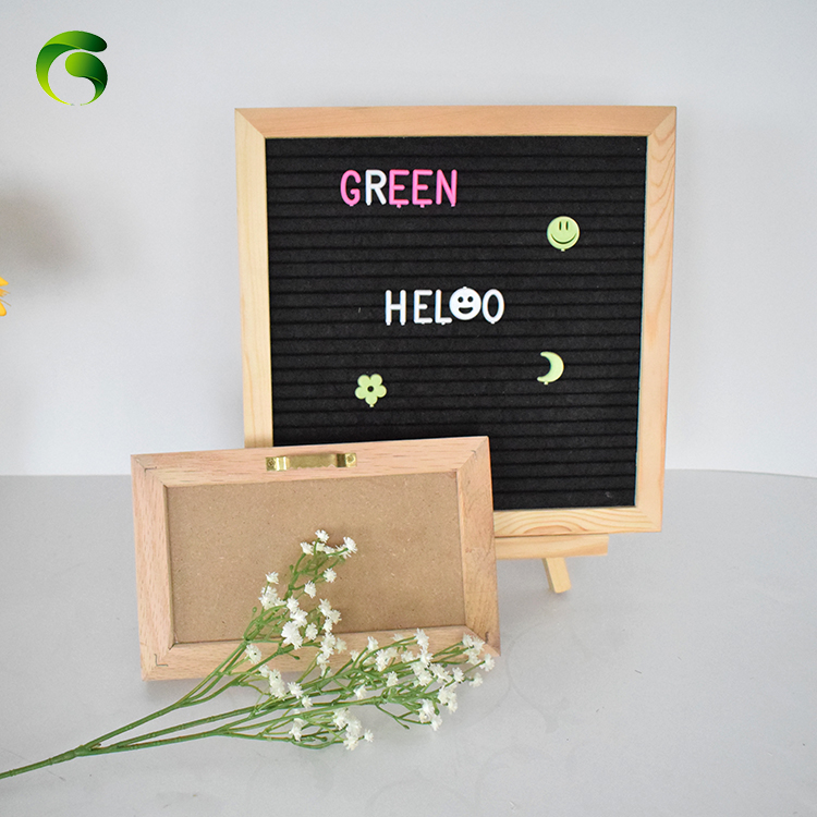 2019 Hot sell new products amazon <strong>Wooden</strong> Black Changeable grey Felt Letter Board