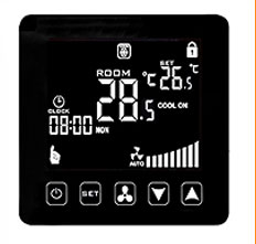 HY08AC Fan coil cooling/heating thermostat controller with IR remote control