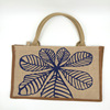 Natural Small Printed Linen Favor Bag