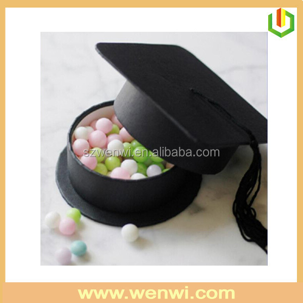 Latest design exports paper hat shaped candy packing box