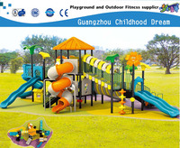 (A-00901) 12.2*8.4*5.1M PUMPKIN COLOR ROOF ,BLUE SPIRAL SLIDE AND WAVE SLIDE CHILD PLAYGROUND EQUIPMENT