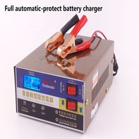 110V /220V Full Automatic Electric Car Battery Charger 12v Intelligent Led Display Auto Battery Charger Pulse Repair