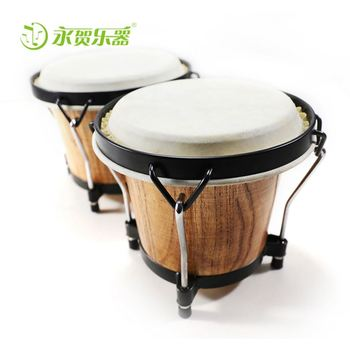 New And Popular Traditional wooden Music Instrument Bongo wholesale leather conjoined twin drum