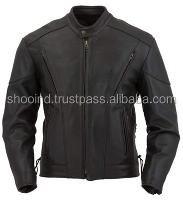 Leather Motorbike Jacket , Sport Photon Perforated Leather Jacket , Men leather sport motorcyle jacket