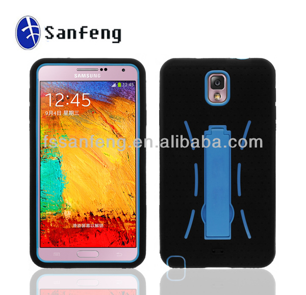 For samsung galaxy note 3 rubber case with TV stand/many colors housing for samsung note 3 n9000 robot case