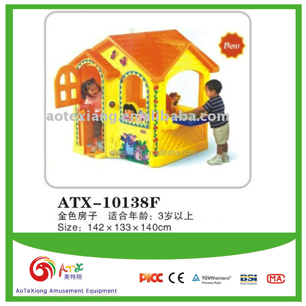 Kid's Plastic Play house Happy Golden house
