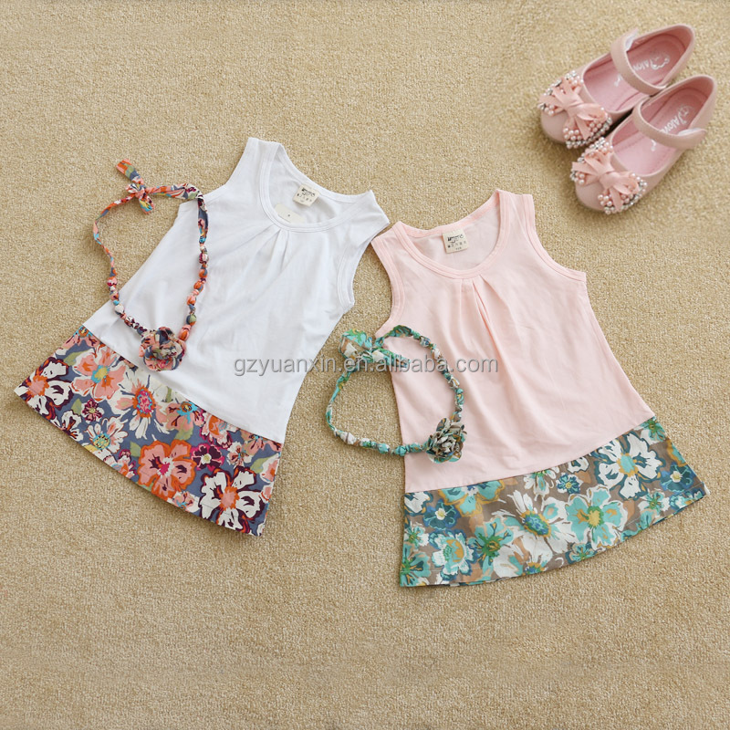 Childrens boutique clothing korean new mode desi girl dress 4 years in summer