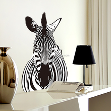 Nordic style modern design zebra wall decals for study room waterproof decor