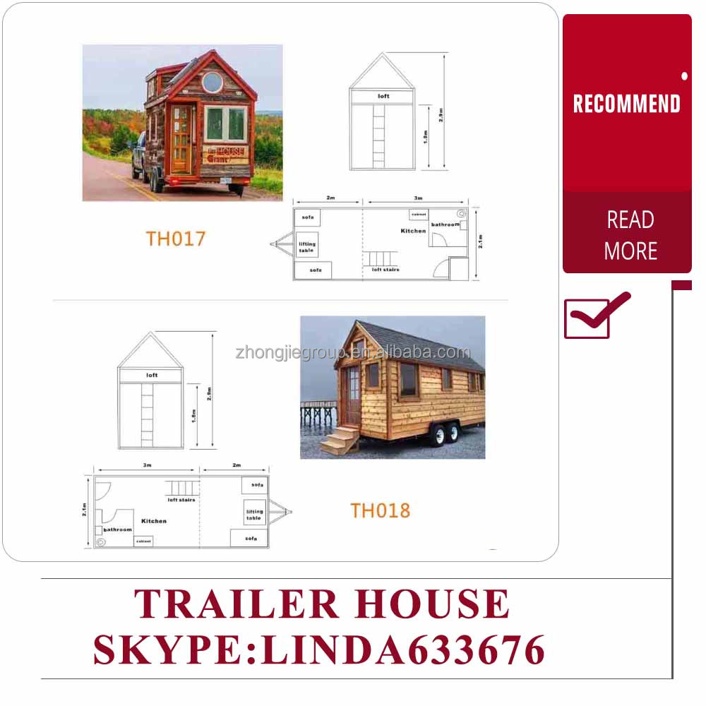 prefabricated mobile tiny house/ tiny trailer house/small kit homes
