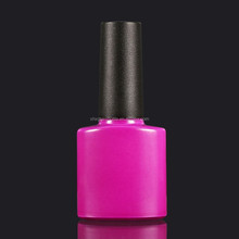 Oval Shape Color Painted Nail Gel Polish Bottle With Logo Printing