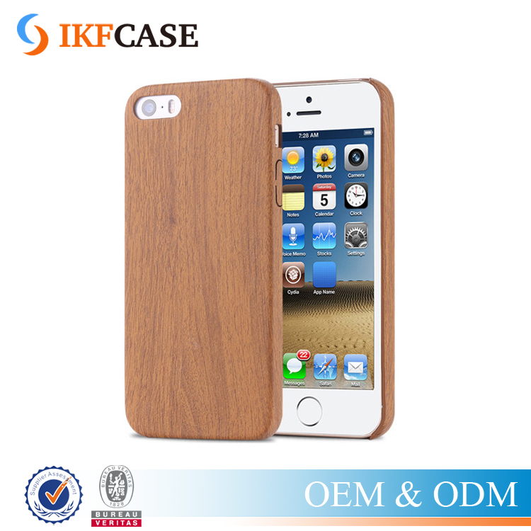 Vintage Wood Grain Slim PU Leather Case For Apple iPhone 5 5S SE Wooden Back Cover Skin Phone Accessory