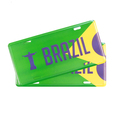 Brazil License Plate Metal Name Plate Car Plate