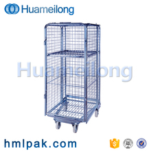 Trolley hot sale warehouse storage cage cart in metal