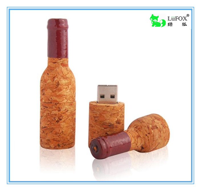 LuFOX Customized Wooden Beer Bottle USB Flash Drive