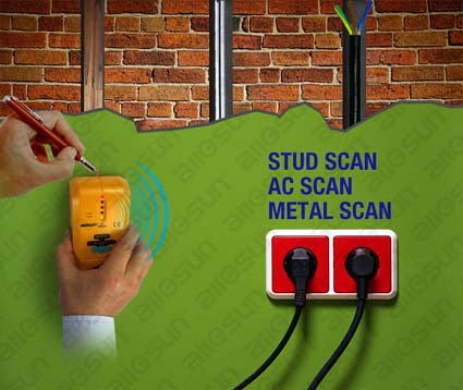All-sun TS73 3 in 1 stud finder with metal detector and AC detector