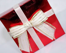 New style White satin ribbon bows with best selling