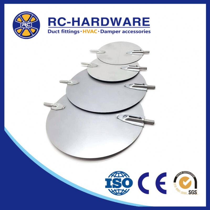 Hvac Metal Hardware Single Round Volume Control Damper Blade