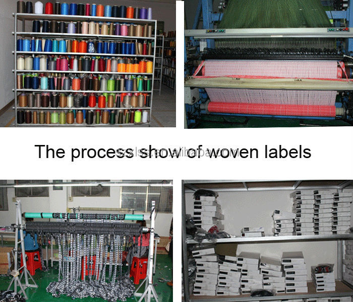 label laser cutting cotton filling woven label