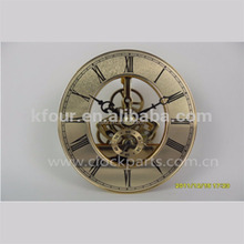 KFOUR K86-CT high quality Skeleton clock insert quartz clock movement with oval dial metal clock