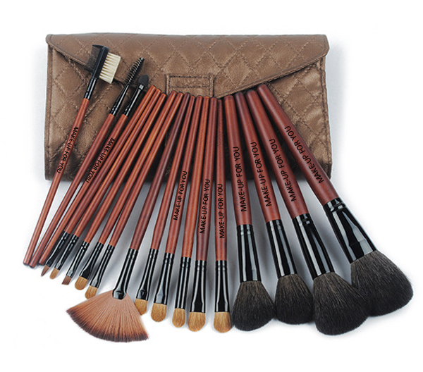 Professional natural hair wholesale cosmetic brush set