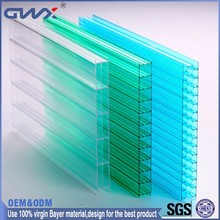 16mm Bayer 100% Virgin Material Transparent PC Polycarbonate Hollow Sheet Price