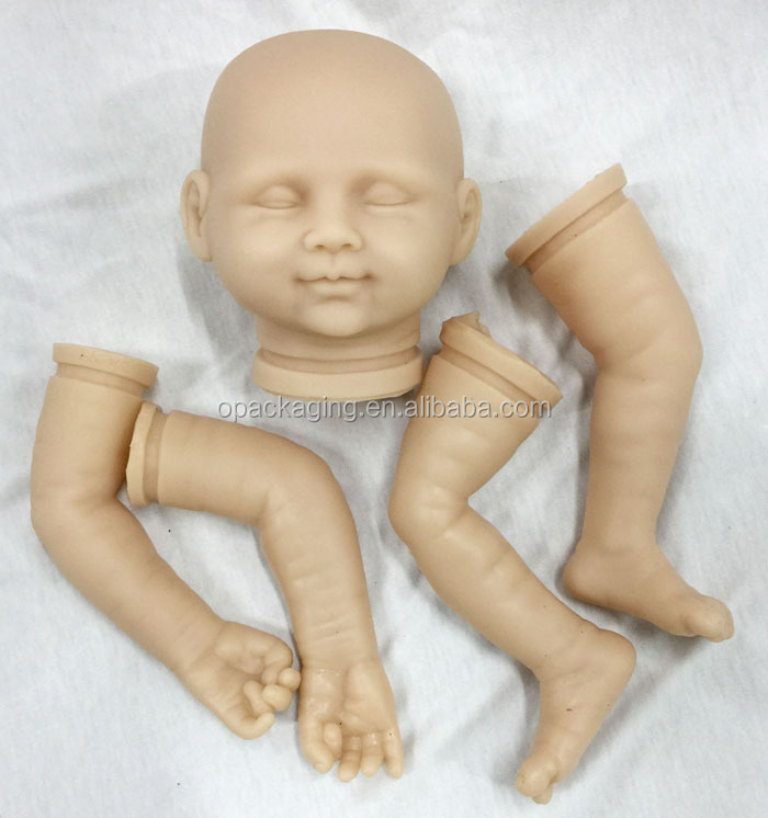 "Hot Soft Silicone Vinyl Kits: Head Arms Legs for 20-22"" Reborn Baby Doll DK-97"
