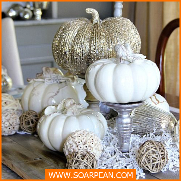 Wholesale Customized Fiberglass Artificial White Pumpkin