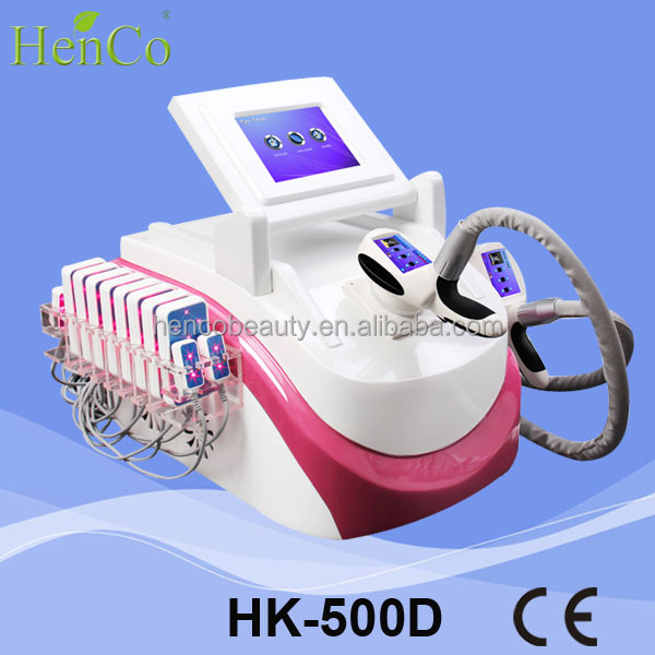 Portable fat freezing with Velashape cryolipolysis lipolaser slimming machine HK-500D henco beauty
