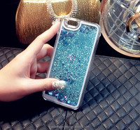 2015 dynamic liquid glitter sand star case for iphone 6 case 4.7