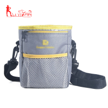 Pet Supplies Custom Logo Design OEM Order Dog Treat Pouch Bag with Metal Clasp for Dog Foods, Toys