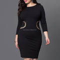 2017 Europe and America plus size women's clothes sexy fashion one-piece dresses