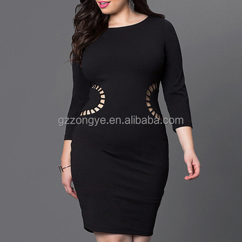 2017 Europe and America plus size women's clothes sexy fashion bodycon one-piece casual dresses