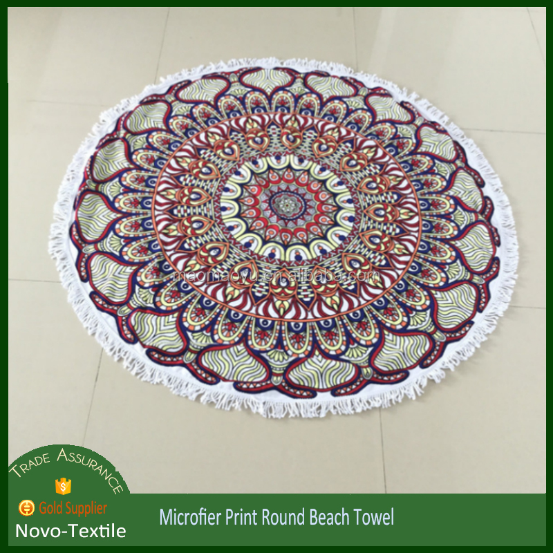 Hot Sales Large Tassels Mandala Towel Round Beach 1.5*1.5m