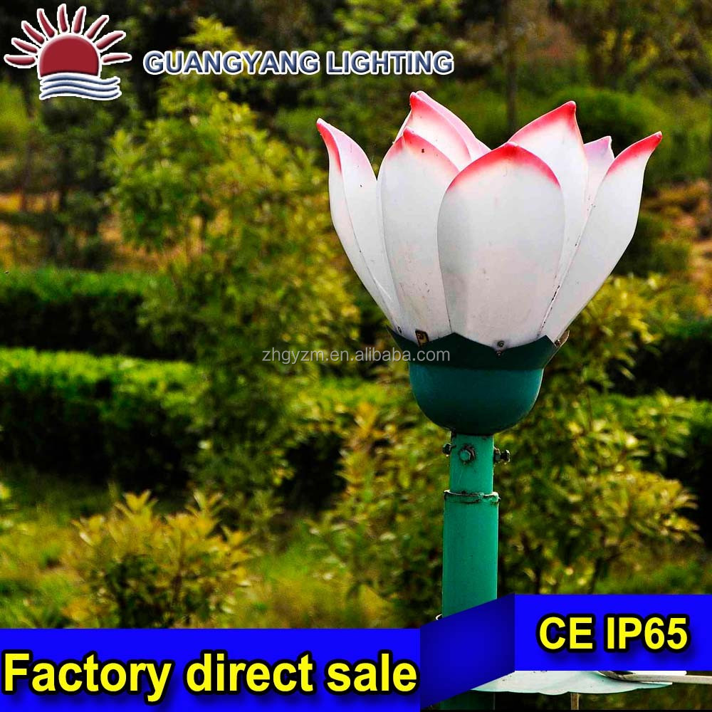 yard led lighting light plastic outdoor flower on sell pink lily