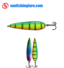 Guangzhou Shenzhen wholesale Copper Bass Pike Trout Casting Trolling Fishing Spoon Lure