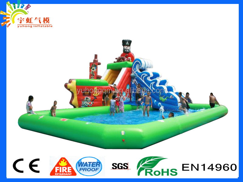 New Style kid's Outdoor Pirate Boat Theme Water Park