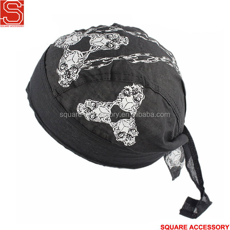 High Performance Du Rag Pirate Scarf Hat Mens Cotton Skull Cap