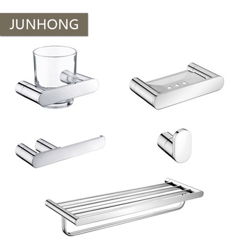 5 Pcs SUS304 modern nickel brushed hotel bathroom accessory sets