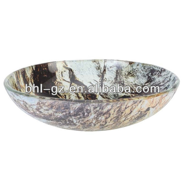 Rock srone fruit bowl/ art ashtray/ decorative hotel marble plate/ top quality glass ash ashtray BHL-P8