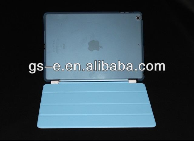 New Plastic Back Transparent Or Solid Cover Case With Smart Cover Magnetic Cover For iPad Air iPad Mini