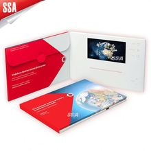 2014 new product video in print lcd video advertising player 7 inch video greeting card