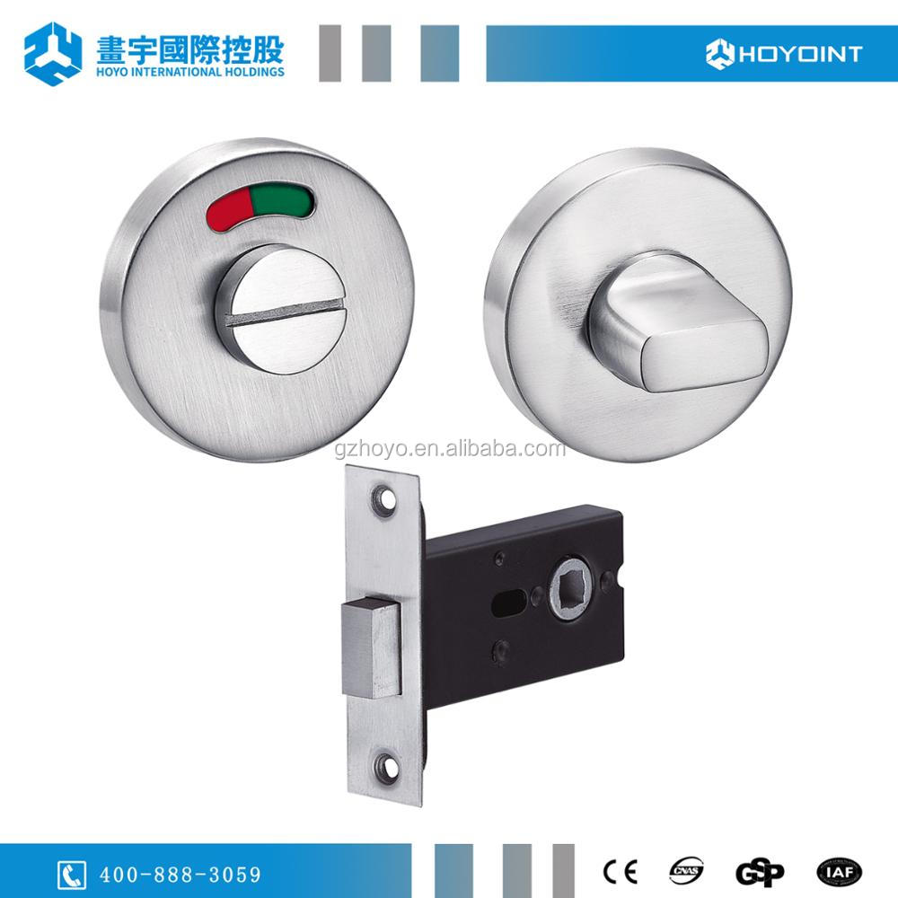 bathroom door lock toilet cubicle indicator lock emergency lock