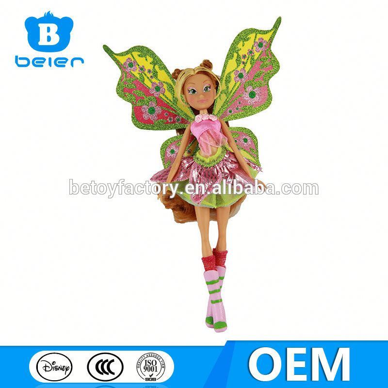 Wholesale vinly doll for girls,OEM plastic fairy doll, chinese toy manufacturers
